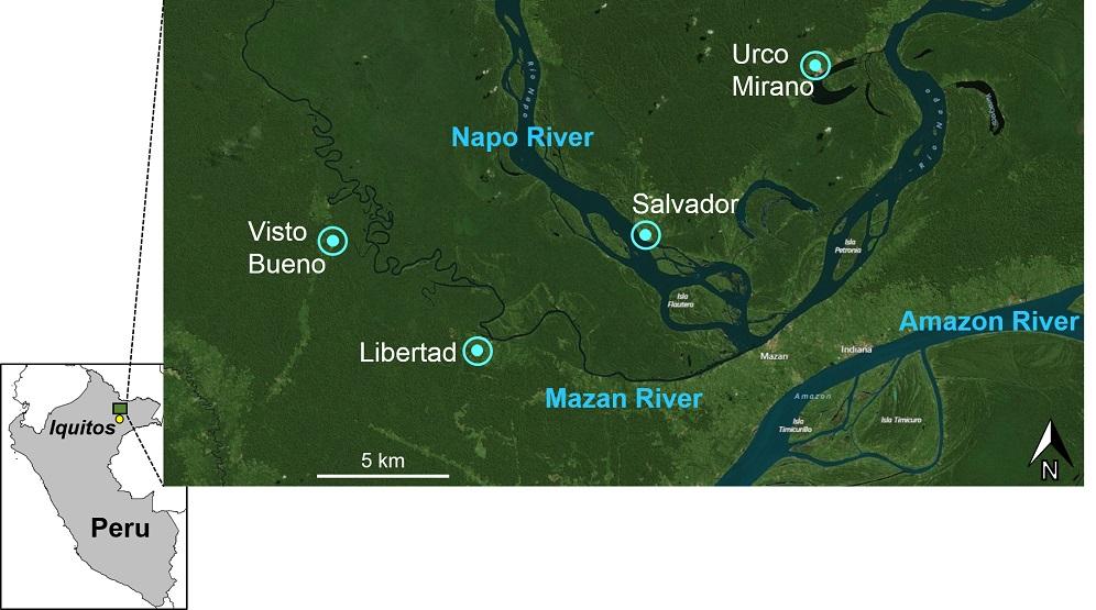 Fig. 1 Map of study area, Peru