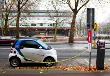 Fuel efficient cars electric charging point