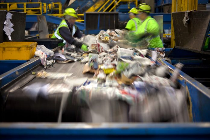 recycling rates in England drop