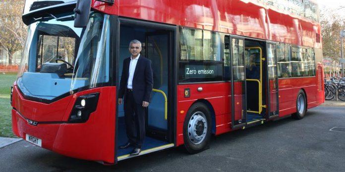 Sadiq Khan transport for London business plan bus