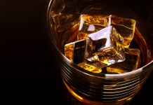 whisky glass alcoholic liver disease concept