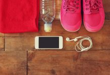 smartphone and trainers mhealth in the EU concept