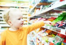 obesity in children sweets in shop