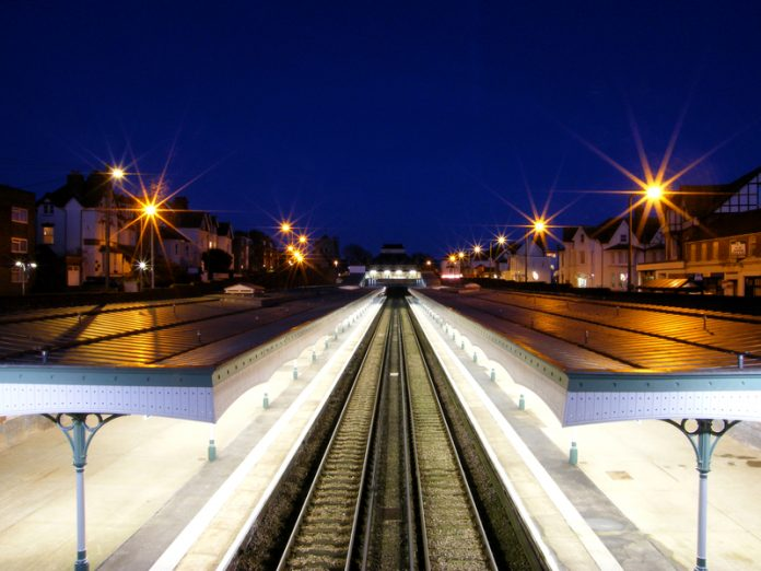 East Sussex County Council budget train station night