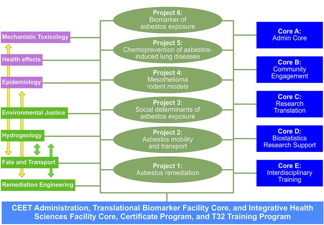 Figure 2: Organization of the Penn SRP Center