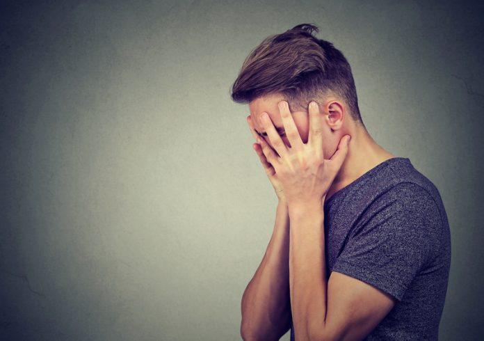 young men with anxiety, mental health