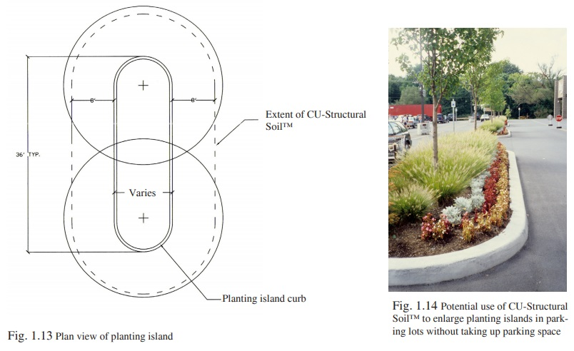 Figure 1.13 - Installing CU-Structural Soil in parking lots