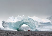 antarctic ice shelf, solar heat in ocean
