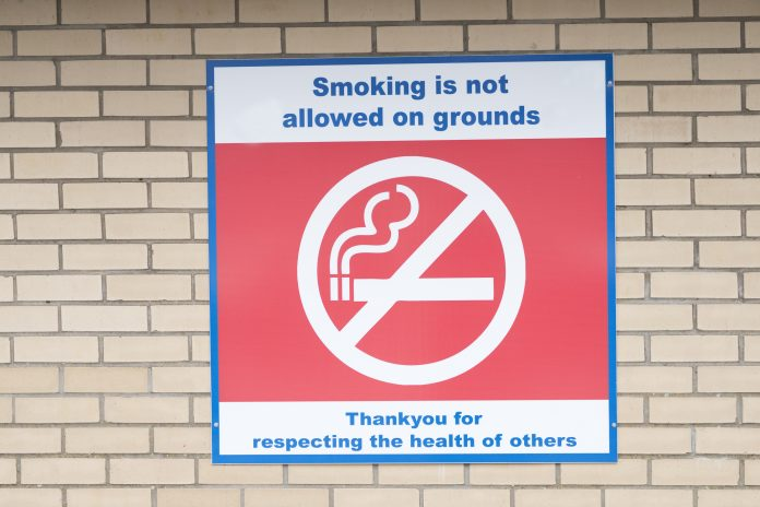 prohibit smoking, smoke-free, hospital grounds, NHS Trusts, PHE