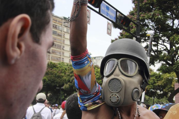 venezuela violent response, anti-government protest