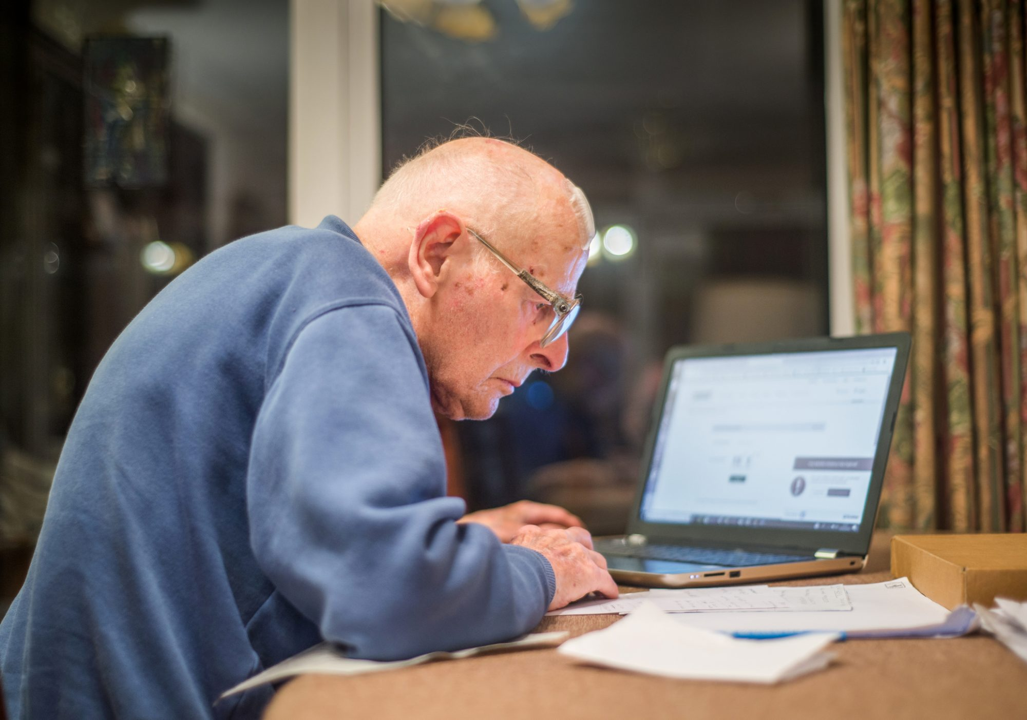 Image result for older person looking at a computer