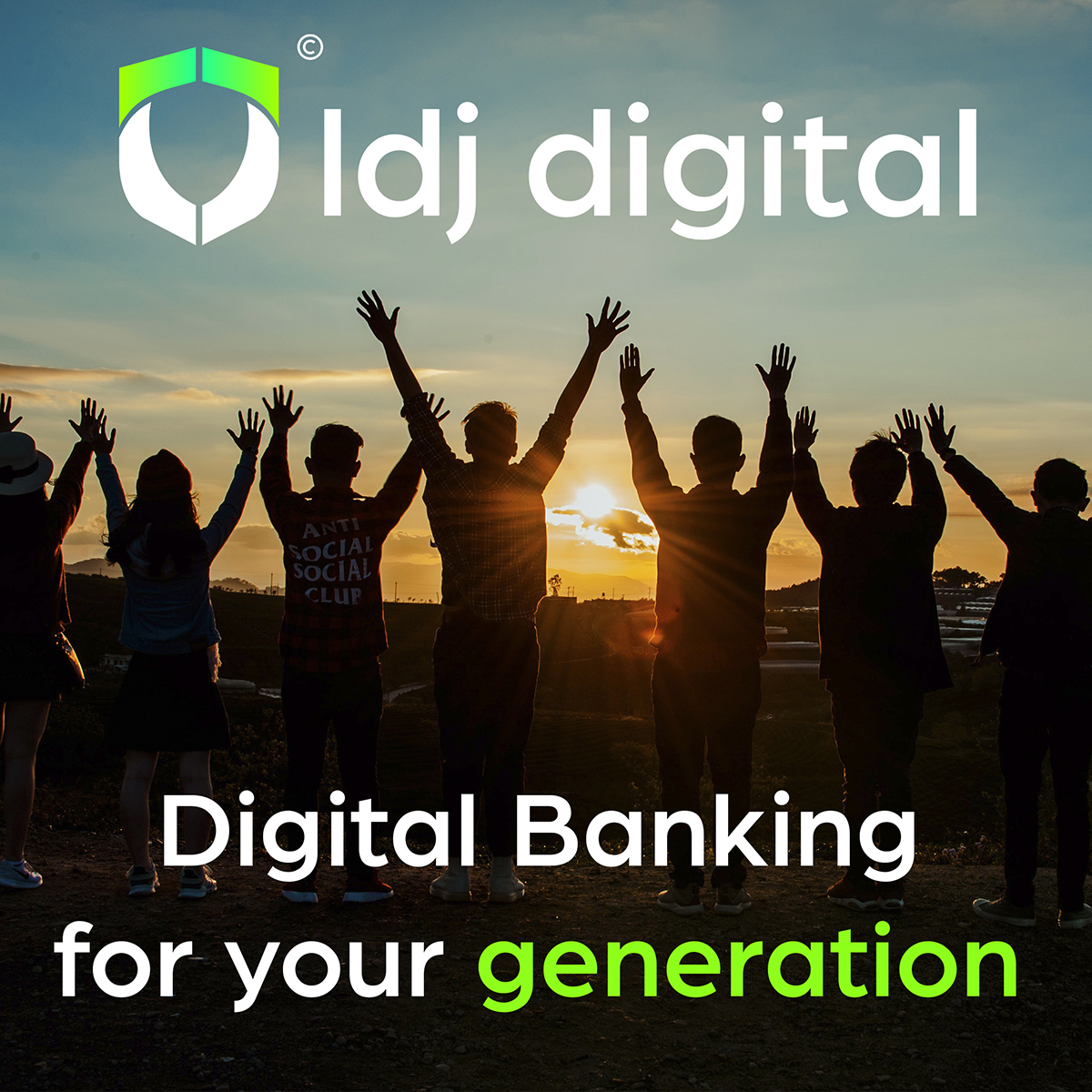 LDJ digital app, share internet data