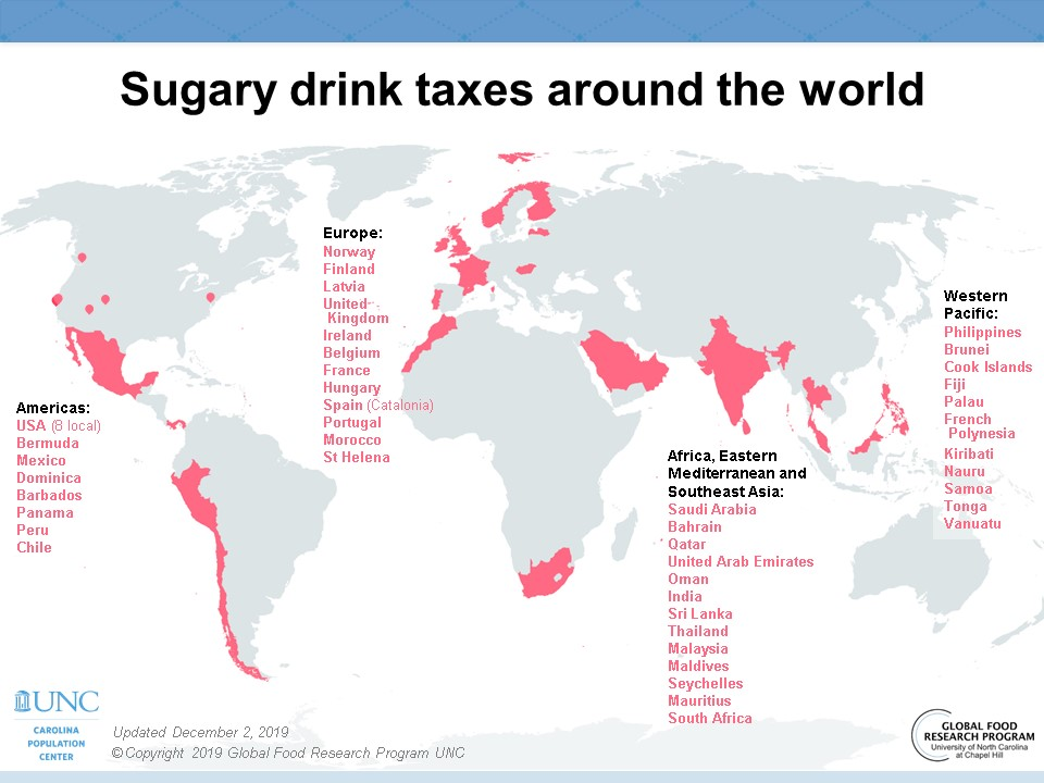 Taxes on sugary drinks to tackle obesity
