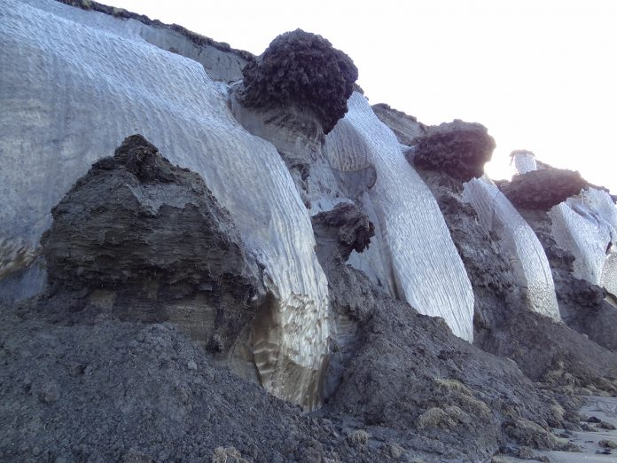 ice-frost permafrost deposits, arctic research